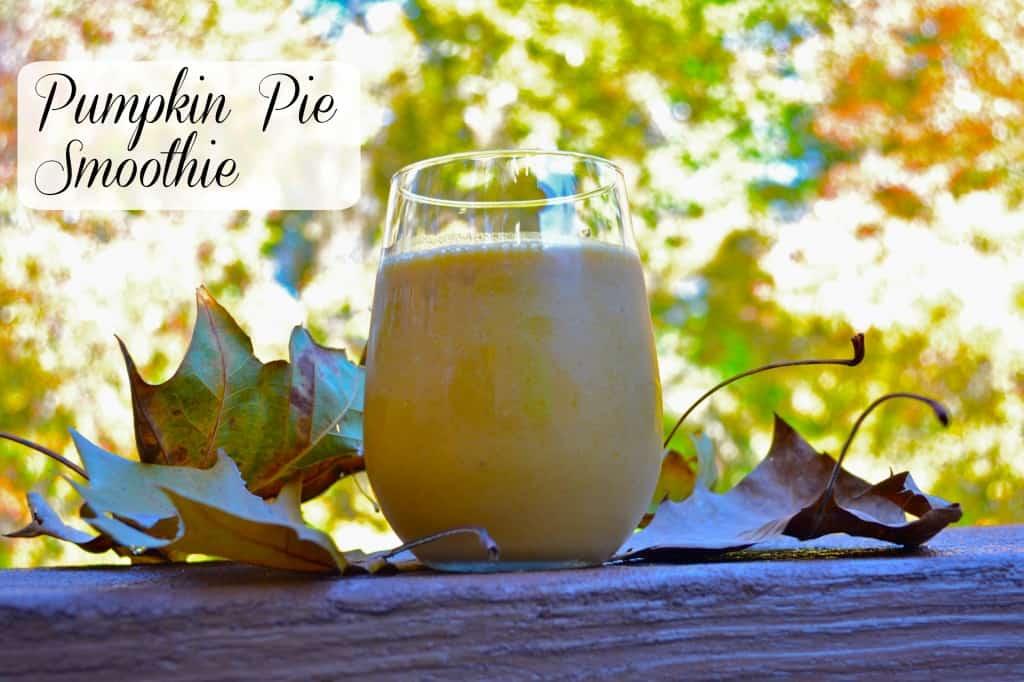 creamy pumpkin pie smoothie recipe - tastes like pumpkin pie in a glass!