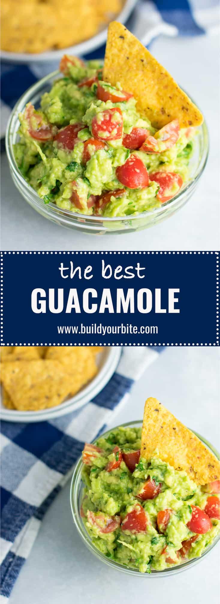 The best guacamole recipe with cherry tomatoes. #vegan #guacamole #bestguacamole #appetizers #gamedayfood