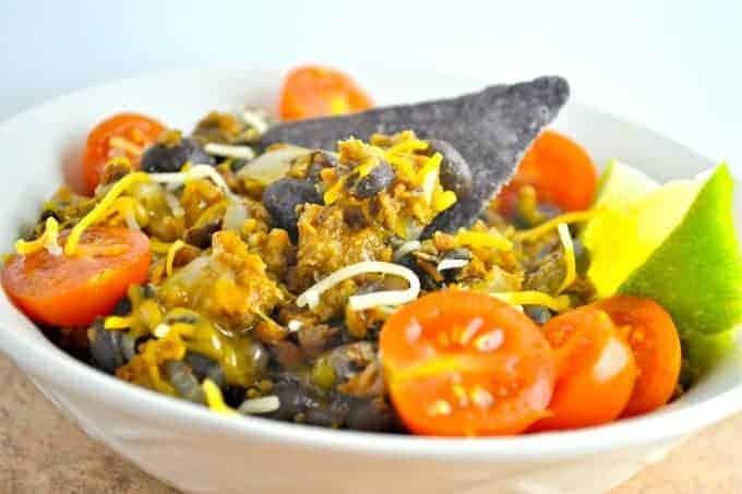 Vegetarian Chorizo Taco Bowl