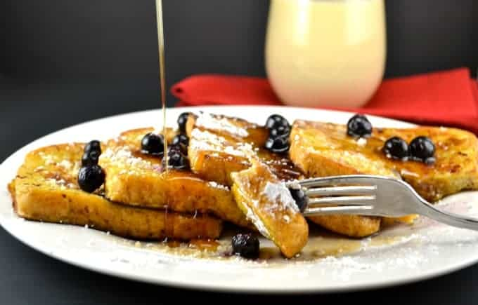 Healthy Eggnog French Toast