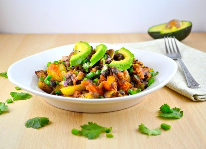 spicy potato taco plate
