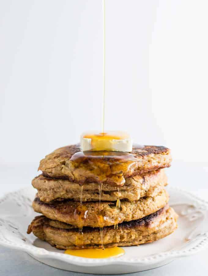 Healthy Banana Bread Pancakes