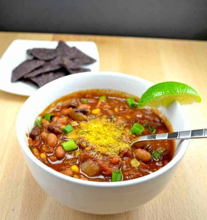 Sweet Corn Vegan Chili