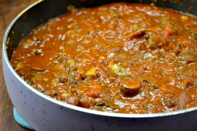 veggie meatless spaghetti