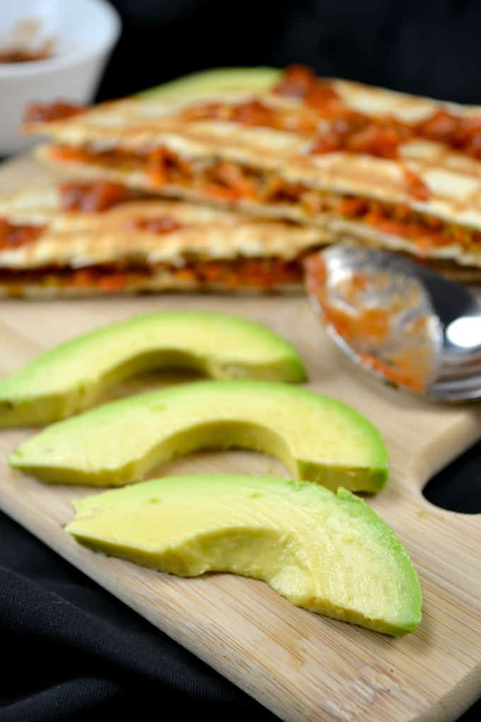 10 minute vegan quesadillas