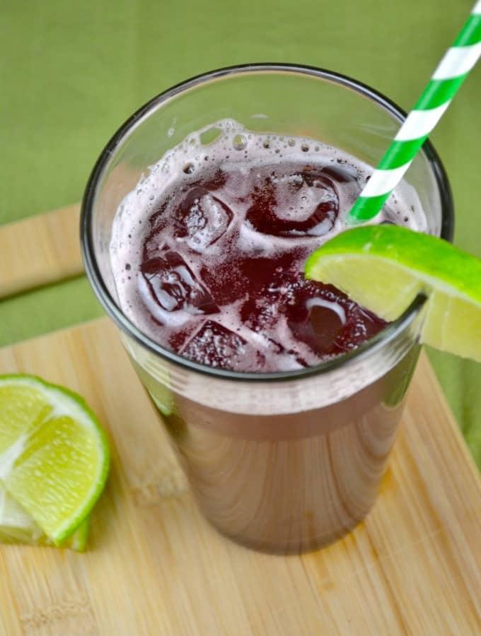 Homemade Sparkling Grape Soda