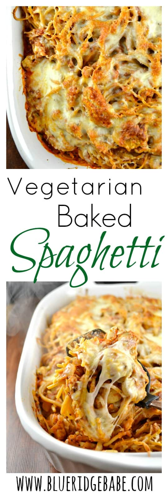 spicy vegetarian baked spaghetti