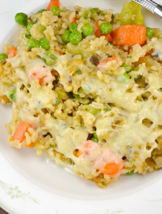Creamy Vegetable and Rice Casserole