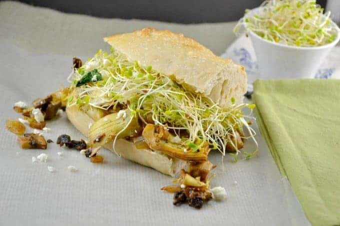 Mushroom and Cheese Hoagies