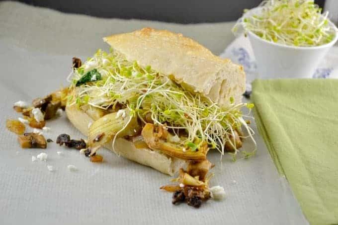 mushroom and cheese hoagies (copycat Mellow Mushroom recipe)