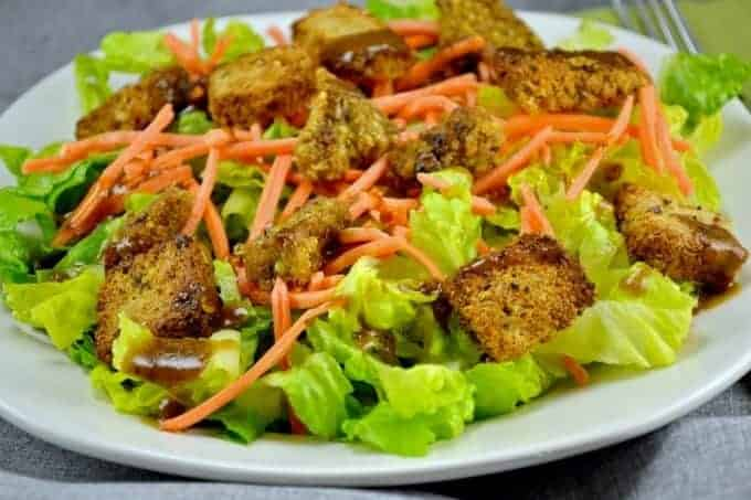 My Favorite Veggie Burger Salad