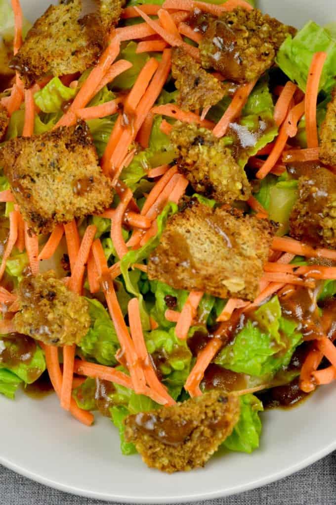favorite veggie burger salad