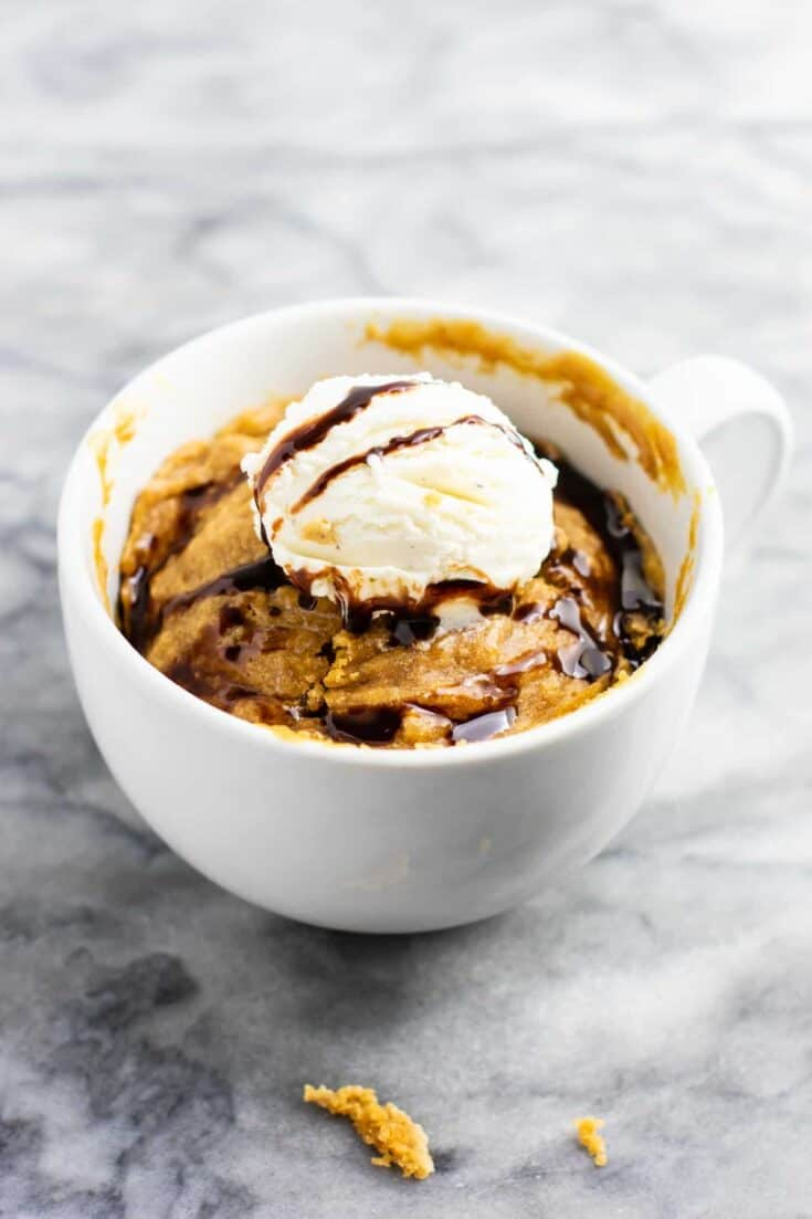 Vegan Chocolate Chip Cookie In A Mug