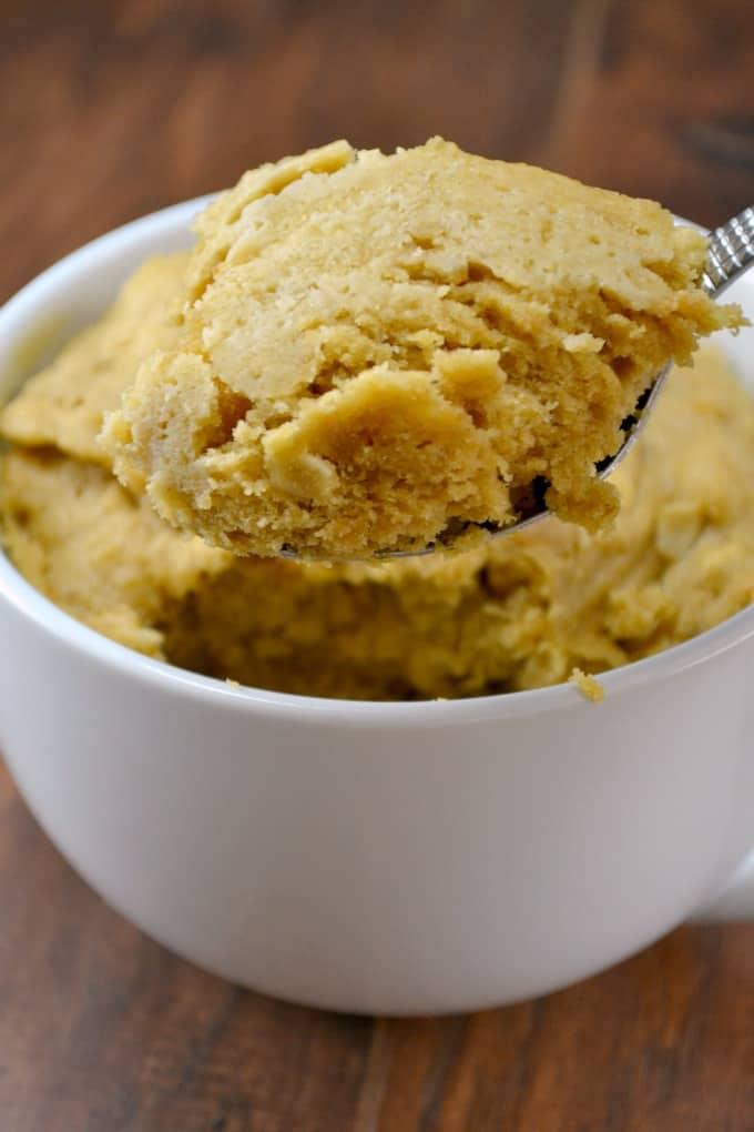 peanutbutter cookie mug cake