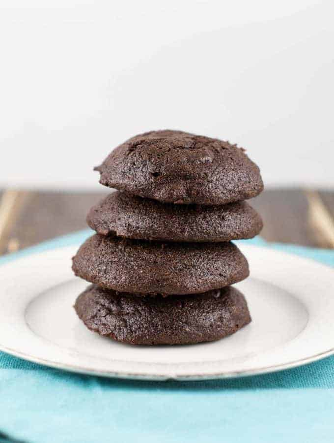 soft batch double chocolate chip cookies