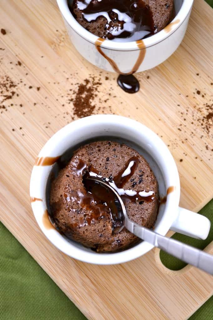 guilt free mocha mug cake