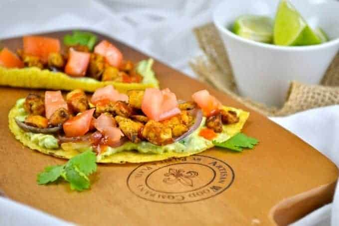 Spicy Tofu Tacos with Cilantro Avocado Sour Cream
