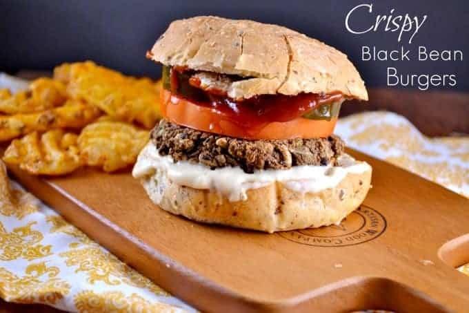 crispy black bean burgers