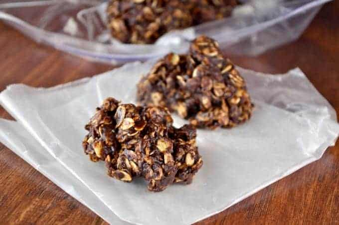 dark chocolate sea salt no bake cookies