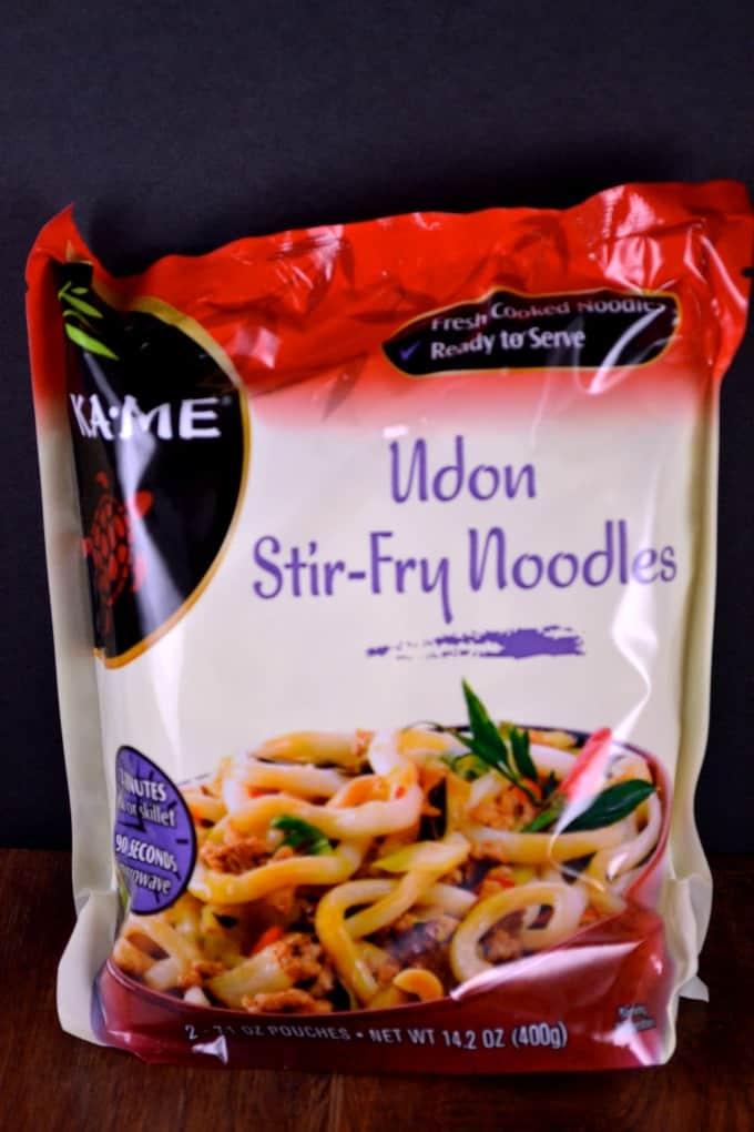 garlic tofu noodle bowls