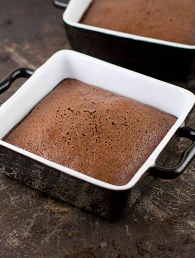 Whole Wheat Chocolate Cake for Two