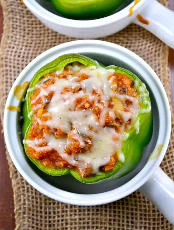 Healthy Stuffed Quinoa Pizza Peppers