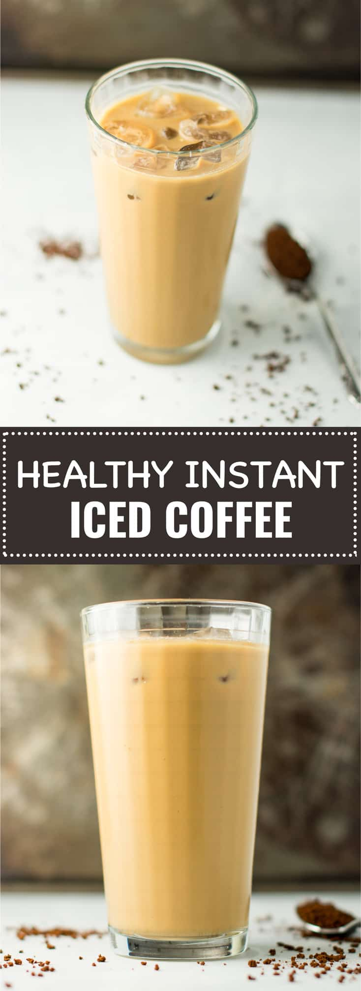healthy instant iced coffee recipe (no hot water required!)