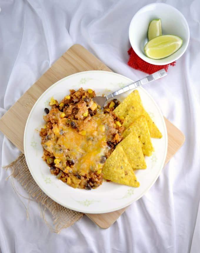 Mexican Quinoa Enchilada Bake