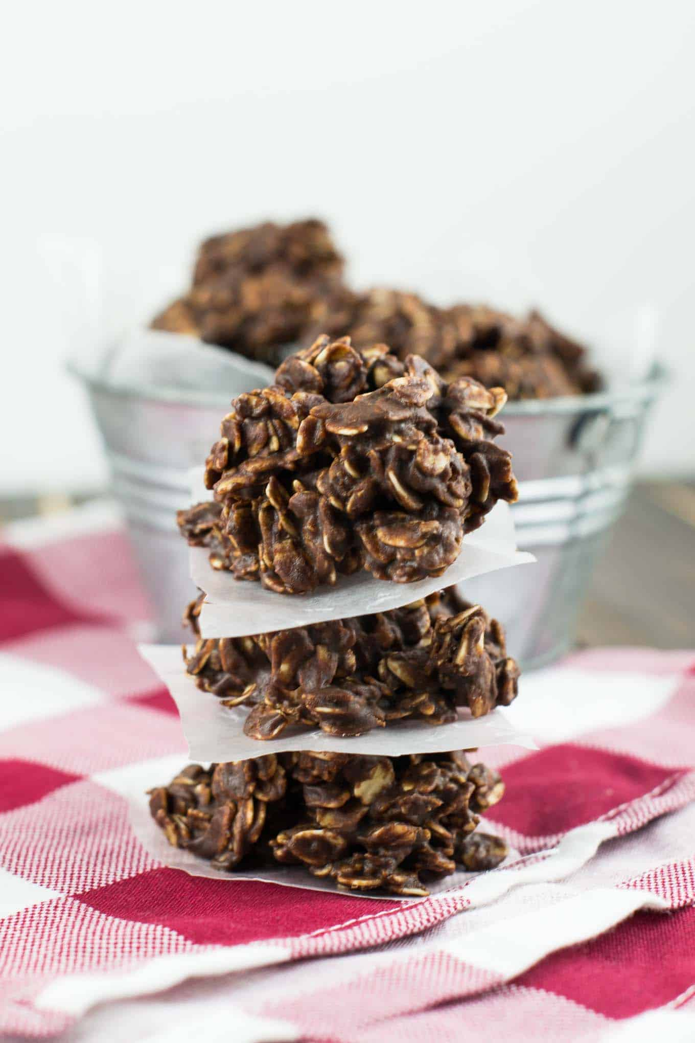 healthy chocolate peanutbutter no bake cookies