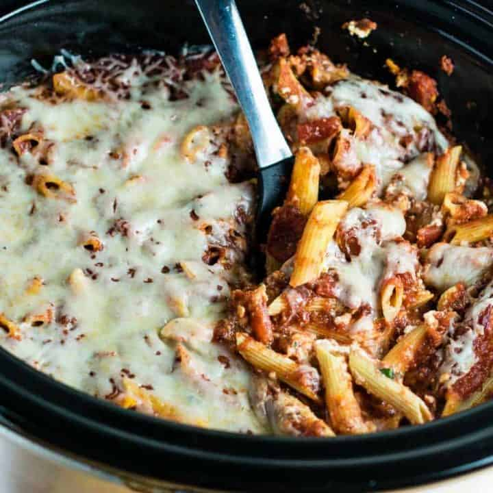 Crock Pot Baked Ziti Recipe Build Your Bite