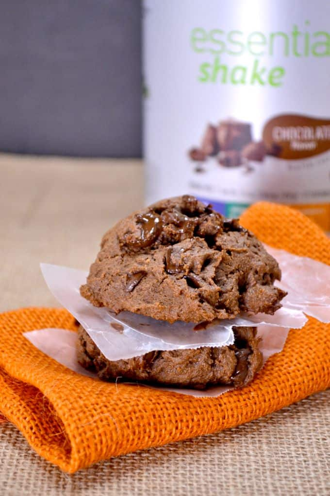 pumpkin chocolate chip protein cookies