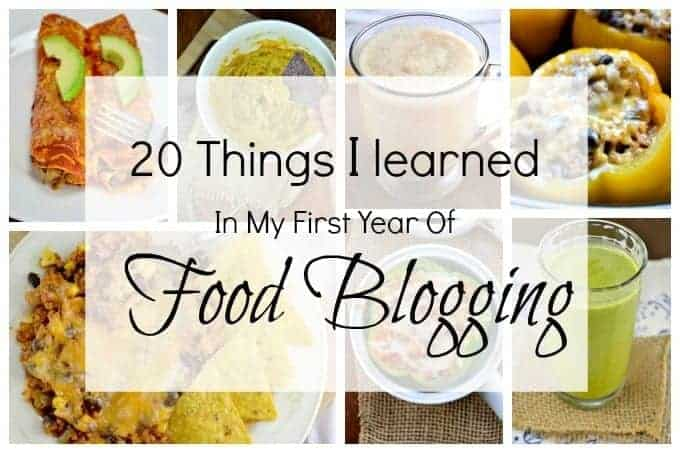 20 Things I Learned In My First Year of Food Blogging