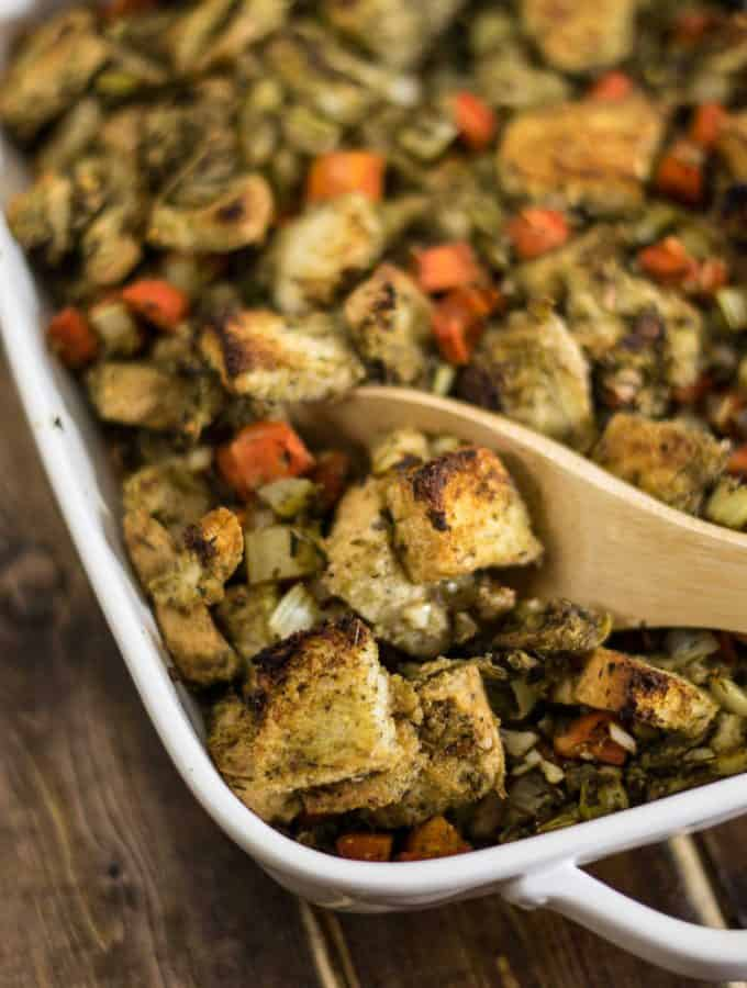 Easy Vegan Stuffing