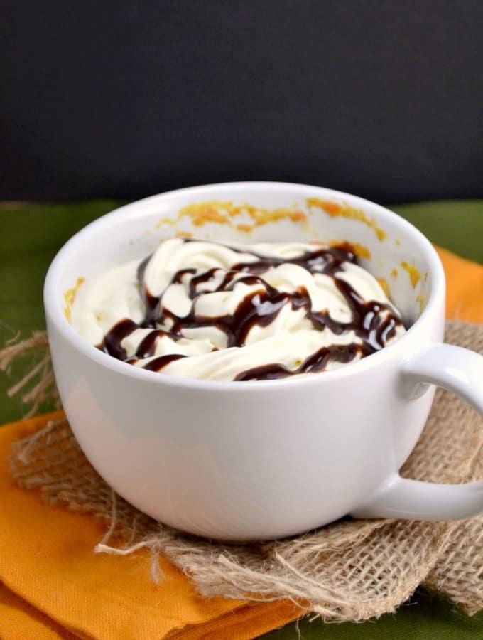 Pumpkin Chocolate Chip Mug Cake