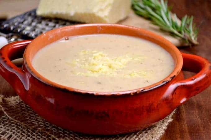 creamy cauliflower and potato soup