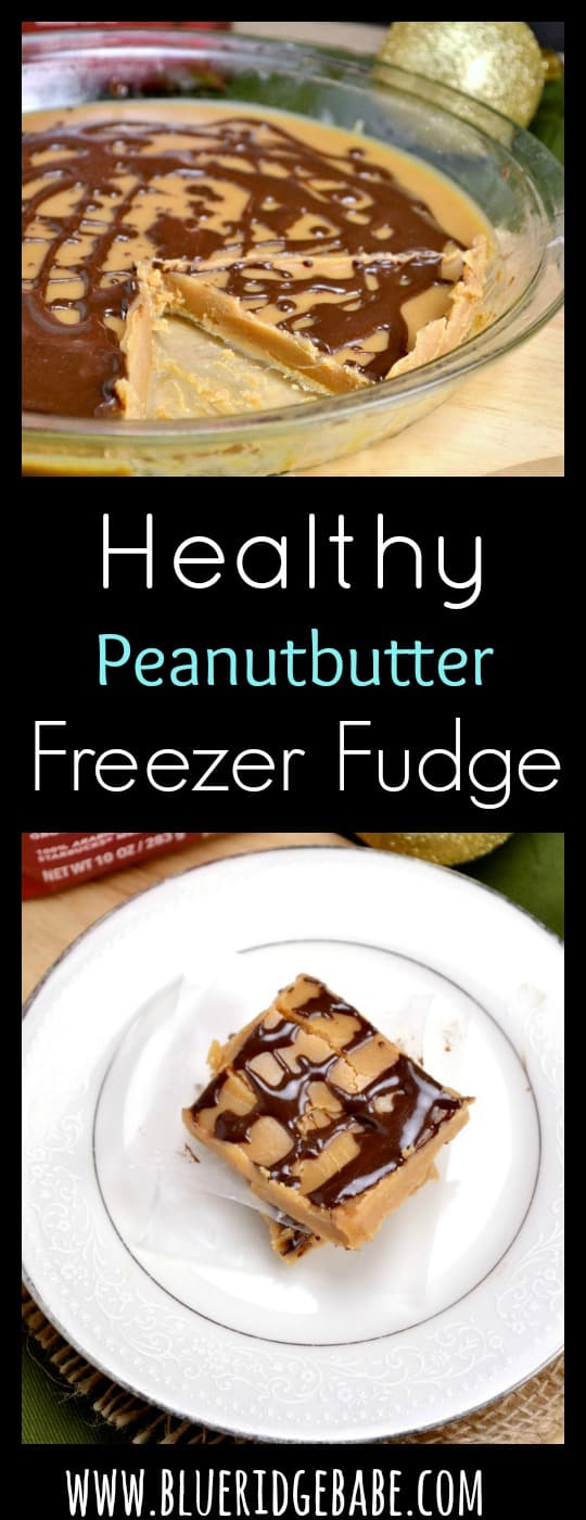 healthy peanut butter freezer fudge (vegan) - this is so easy to make!