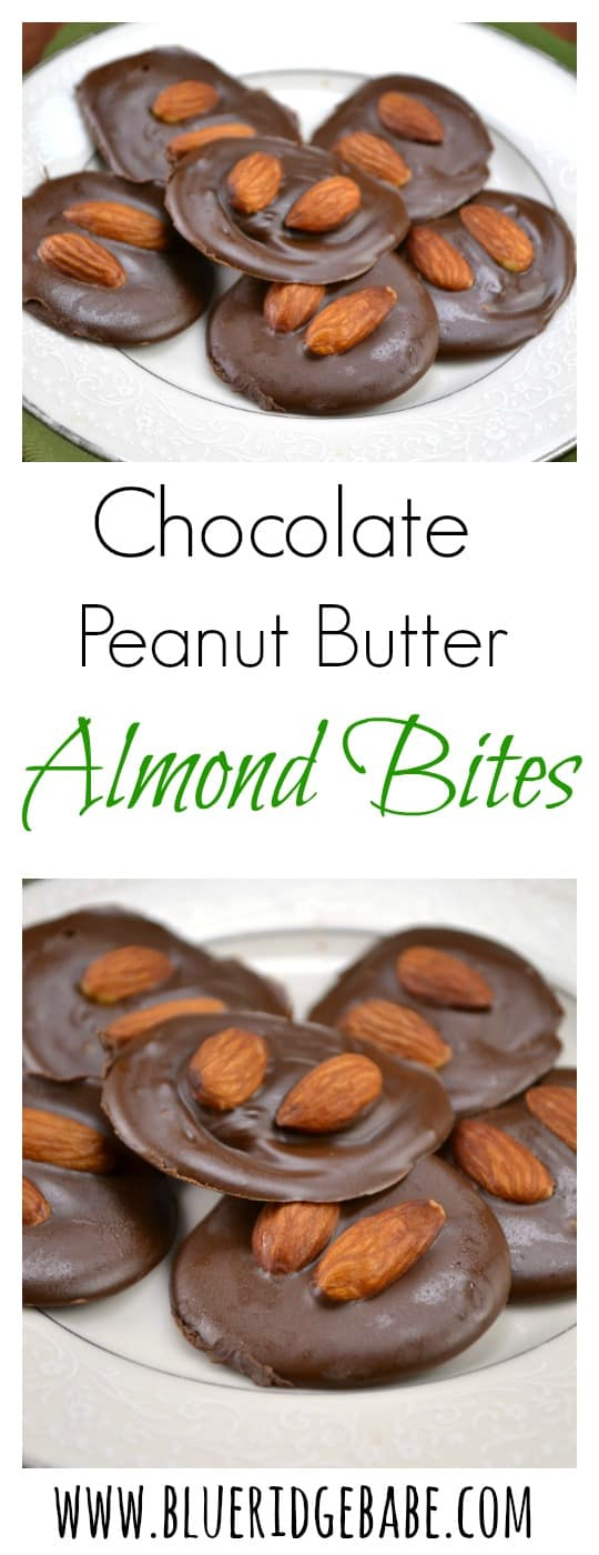 chocolate peanut butter almond bites - the perfect dessert to help you get back on track!