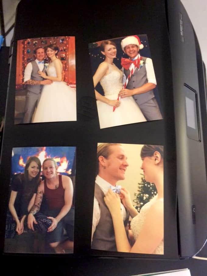 diy christmas photo frame
