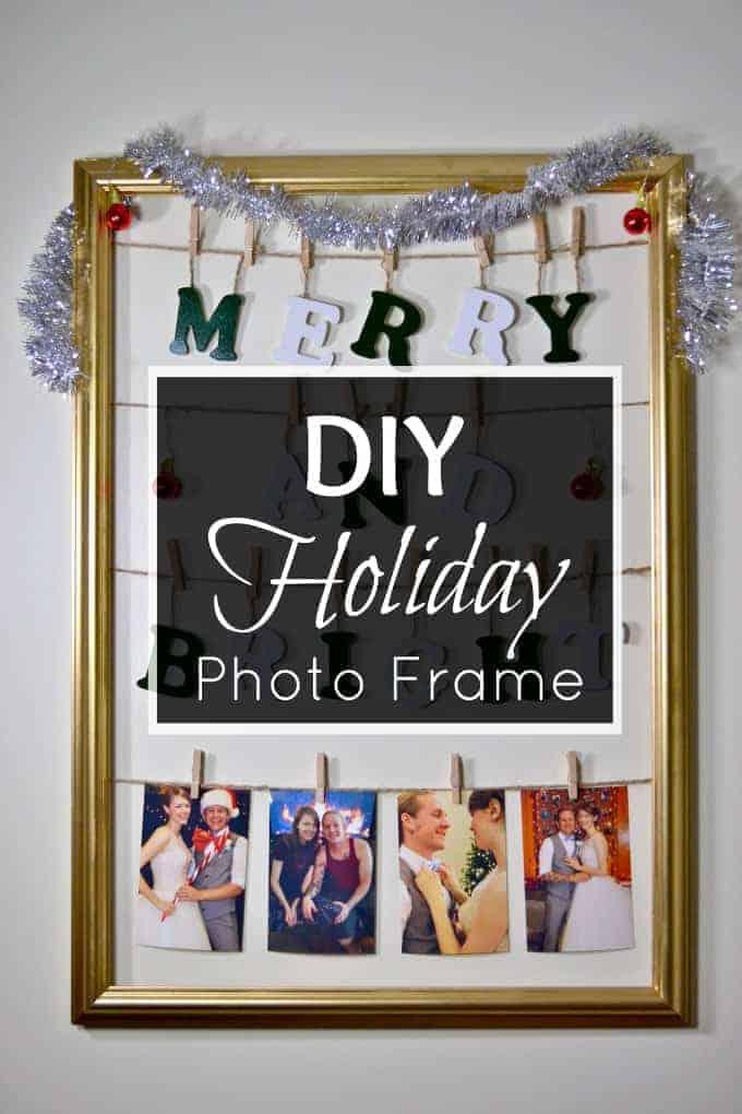 diy holiday photo frame