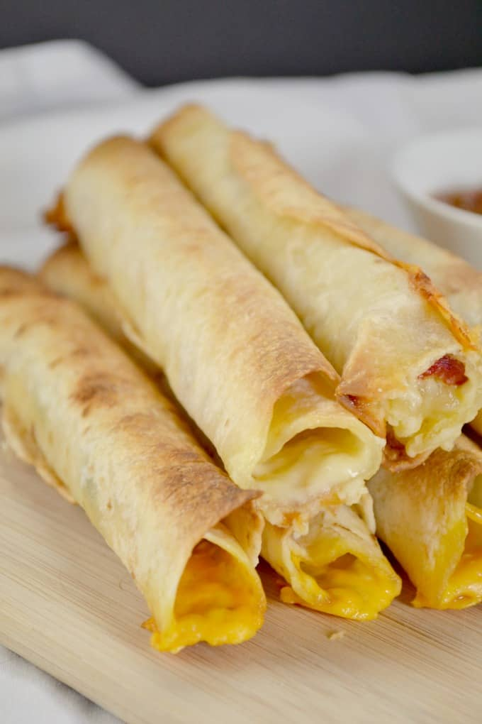 4 ingredient baked taquitos (two ways)
