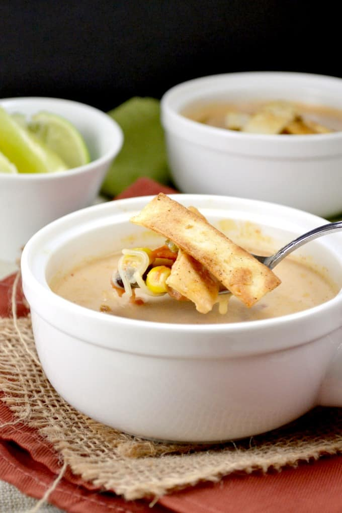 crockpot chunky veggie tortilla soup