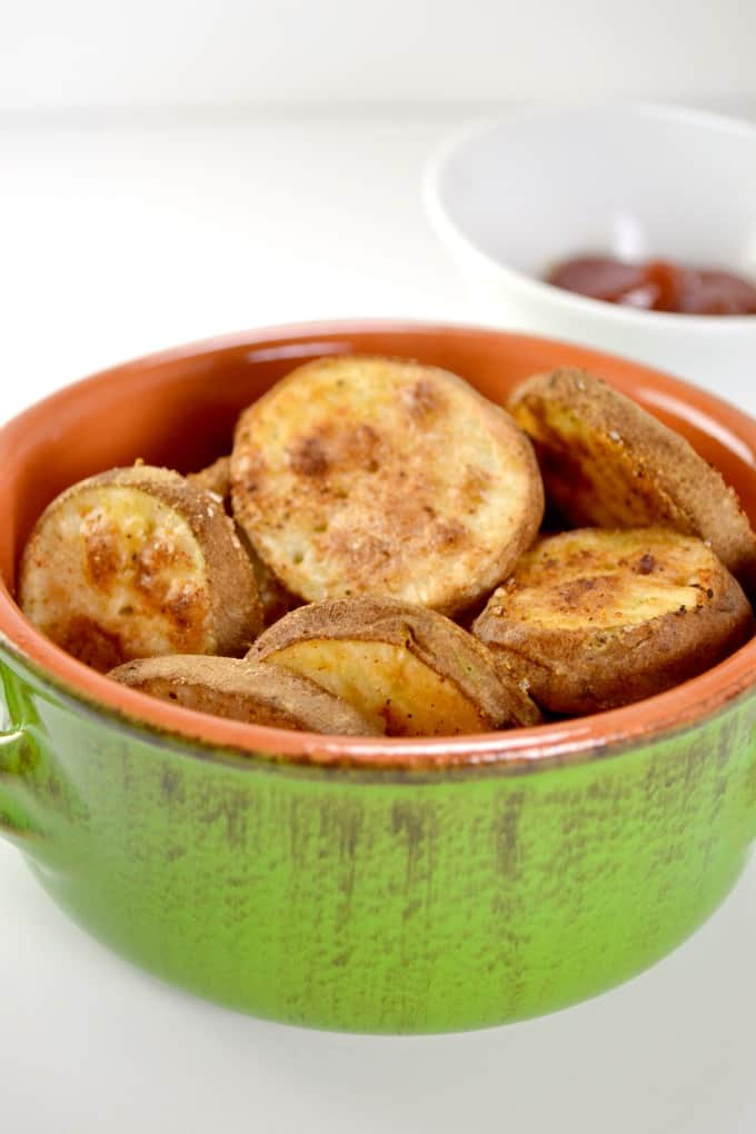 oven baked crispy potato rounds