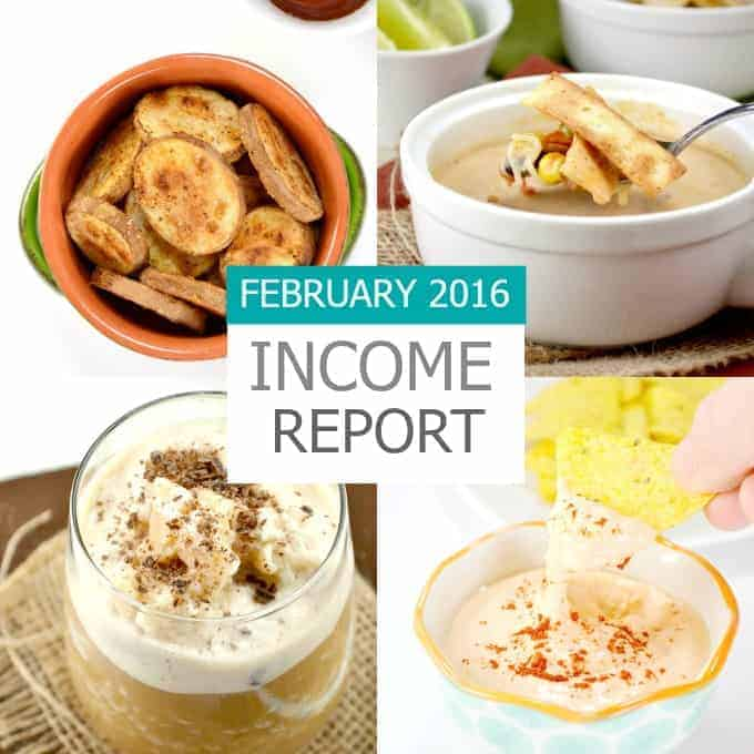 February 2016 Traffic and Income Report - a food blog income report from Build Your Bite