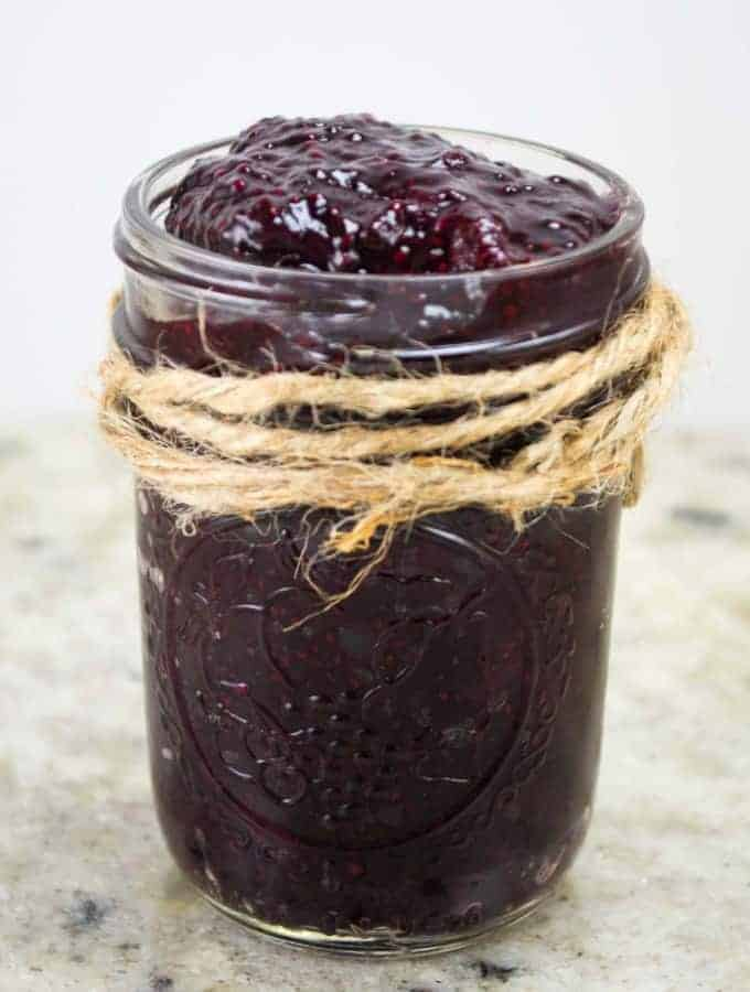 15 Minute Berry Chia Seed Jam