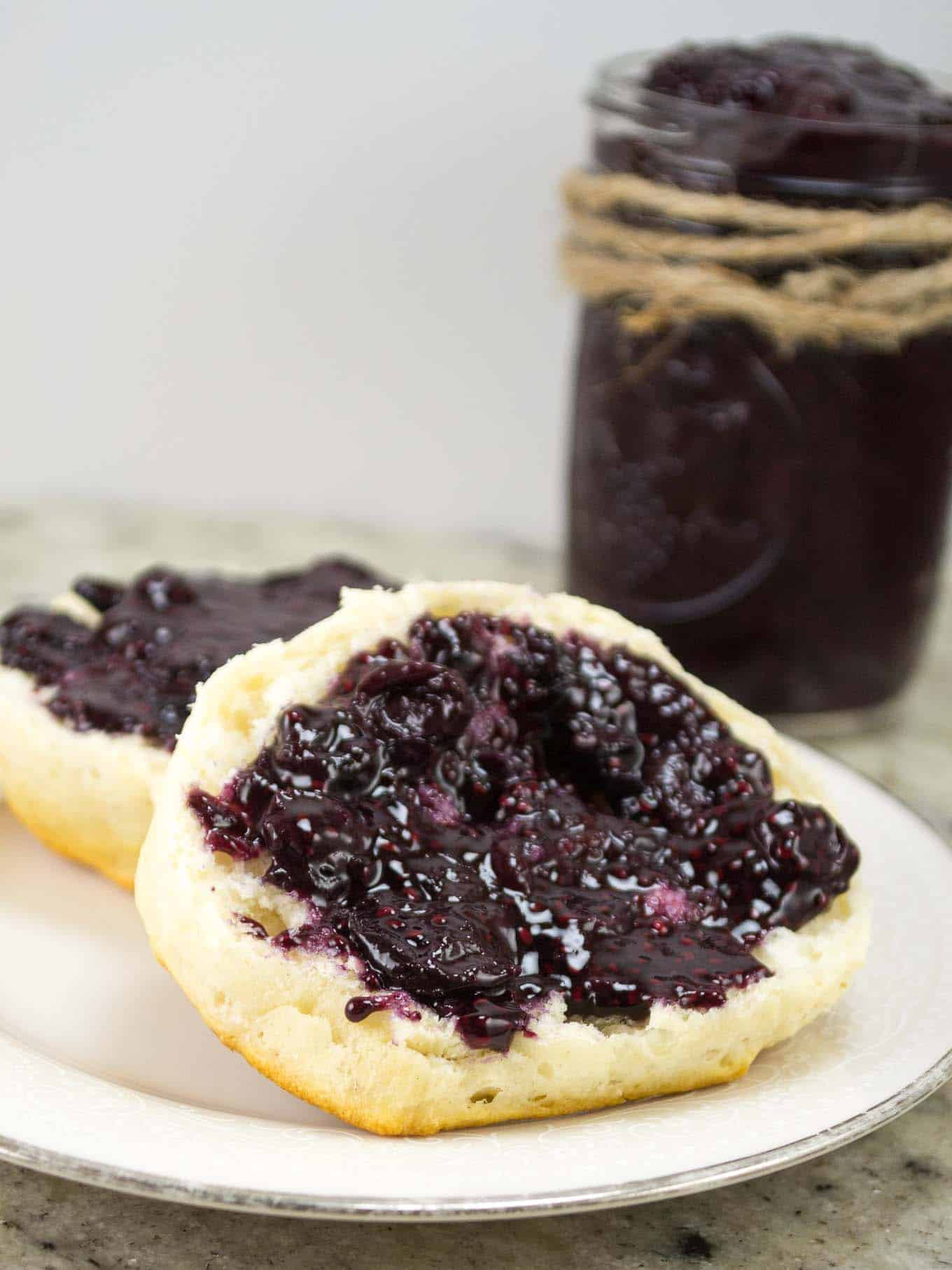 15 minute berry chia seed jam (can substitute any frozen fruit!)