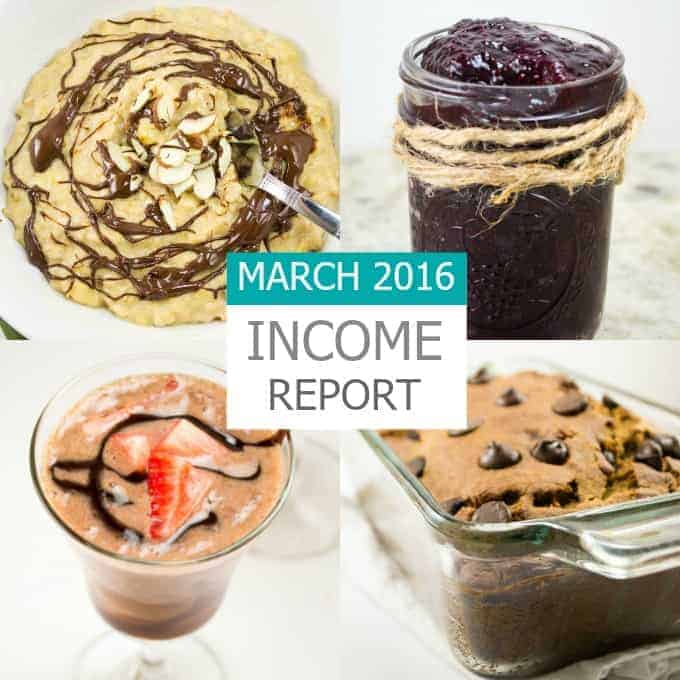 March 2016 Traffic & Income Report - a food blog income report from Build Your Bite