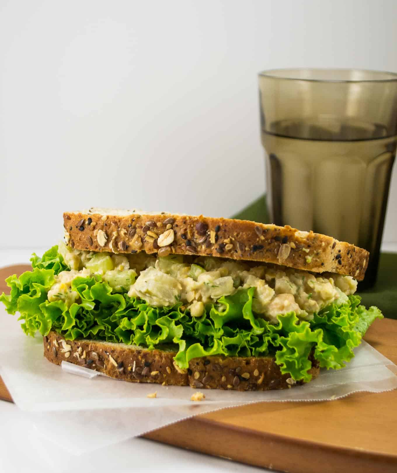 smashed chickpea salad sandwich - only 9 ingredients and vegan!