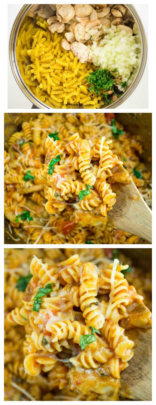 (20 minute) One Pot Veggie Rotini - Perfect for a quick and delicious family meal that doesn't require a lot of prep work!