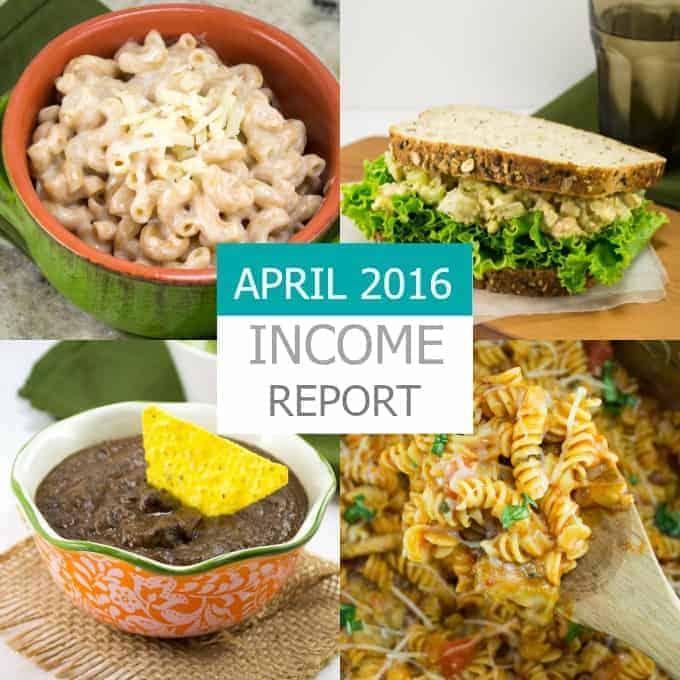 April 2016 Traffic & Income Report - Build Your Bite