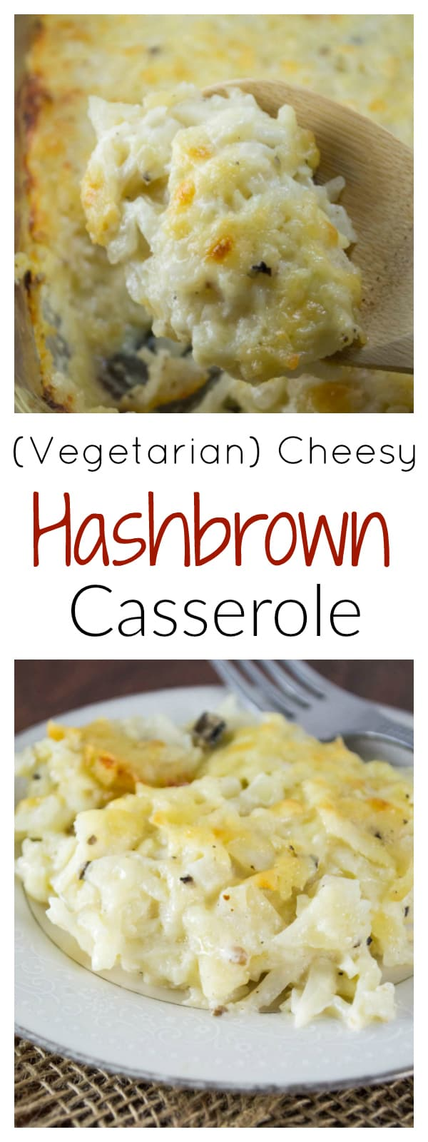 Vegetarian Cheesy Hashbrown Casserole (Cracker Barrel copycat recipe)